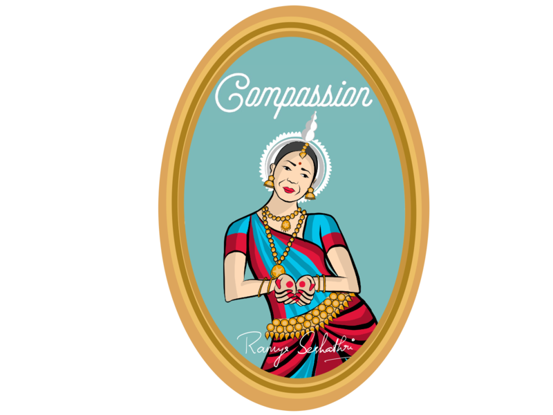 Compassion expressed in Indian dance form Odissi