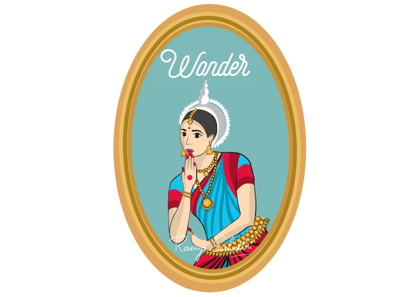 Wonder expressed in Indian dance form Odissi