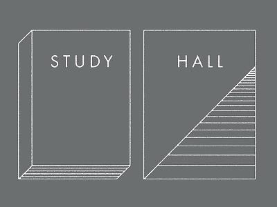 Study/Hall branding retail hall book lines logo