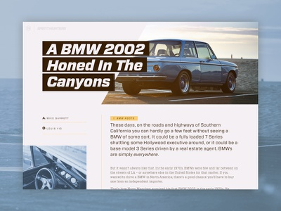 52 Layouts — 03 cyber ui vitesse forza bmw layout web website article print editorial sketch