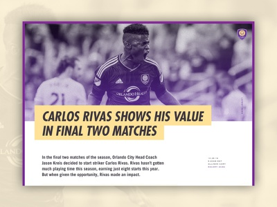52 Layouts — 06 soccer trade gothic kepler futura cyber ui layout website article print editorial sketch