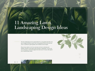 52 Layouts — 12 landscape cyber ux ui layout website article editorial sketch landscaping akzidenz grotesk new caledonia