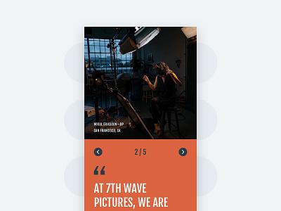 Testimonial Slide - Mobile fjalla one source sans pro sketch website ui ux cyber slide testimonial carousel