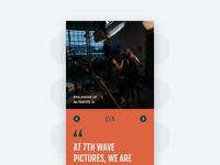 Testimonial Slide - Mobile
