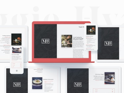 Maggie Hyams — Website Launch contemporary minimal typography layout website quattrocento sans oswald cook chef bagnard sans