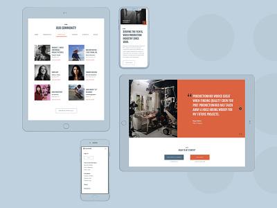 Portfolio progress ux libre franklin source sans pro fjalla one devices apple ipad iphone mockup web design website