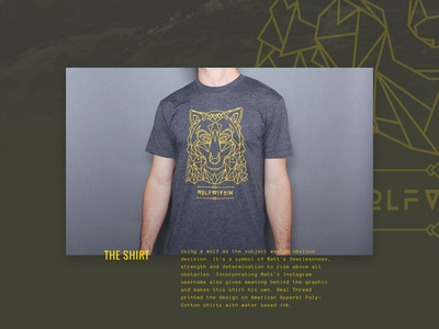 Wolfwithin (revised) wolf typography landing page web design shirt tee anonymous pro oswald
