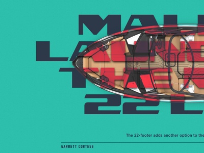 Experiment 18 utc lander web design boat design editorial gotham utc nomad typography layout sketch website