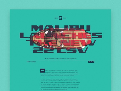 52 Layouts — 18 editorial typography layout sketch website wakeboard boat gotham narrow gotham utc lander utc nomad