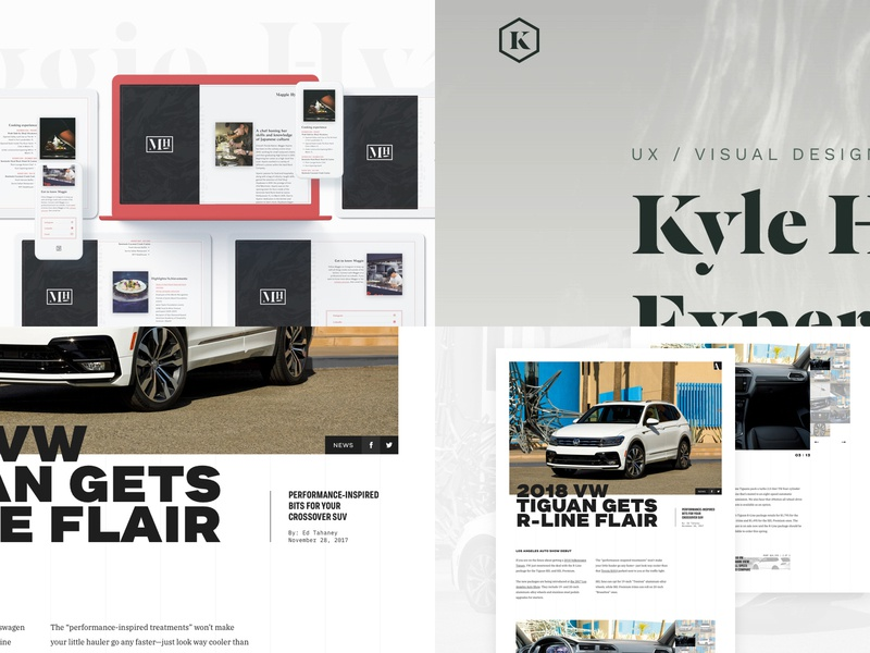 Top 4 — 2018 vw tiguan logo identity layout website type typography sketch top4shots