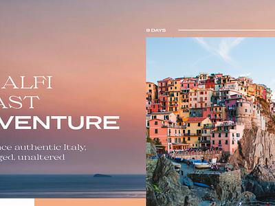 Testing… colllettivo coast adventure travel messapia italy website typography layout editorial adobexd