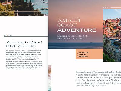 52 Layouts — 19 amalfi travel italy porpora ortica messapia collletttivo typogaphy adobexd editorial layout website