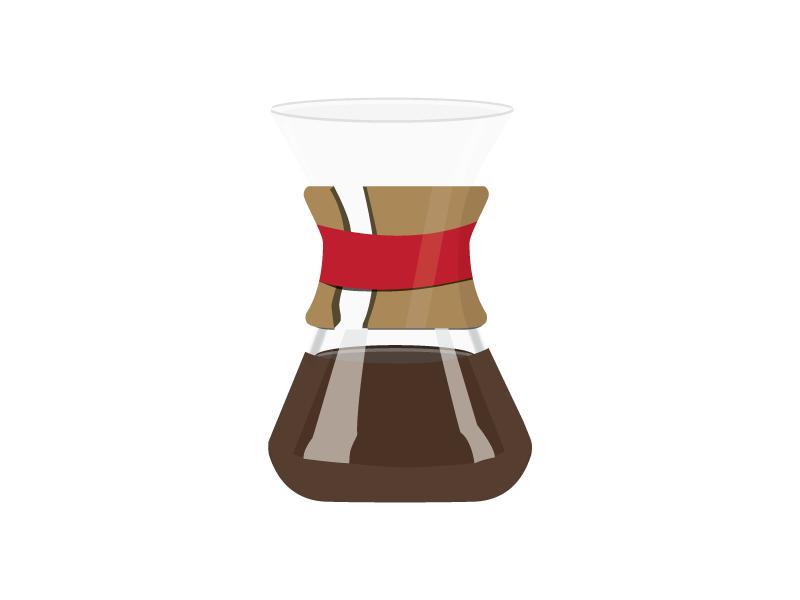 Chemex graphic illustration chemex pourover coffee