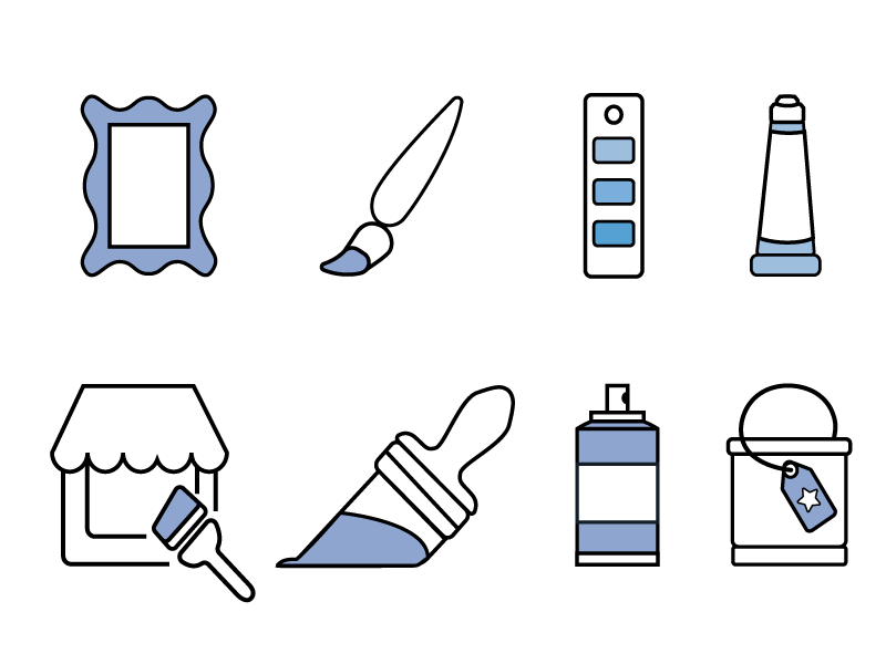 Paint Icon Set infographic illustration vector icons simple icon set paint
