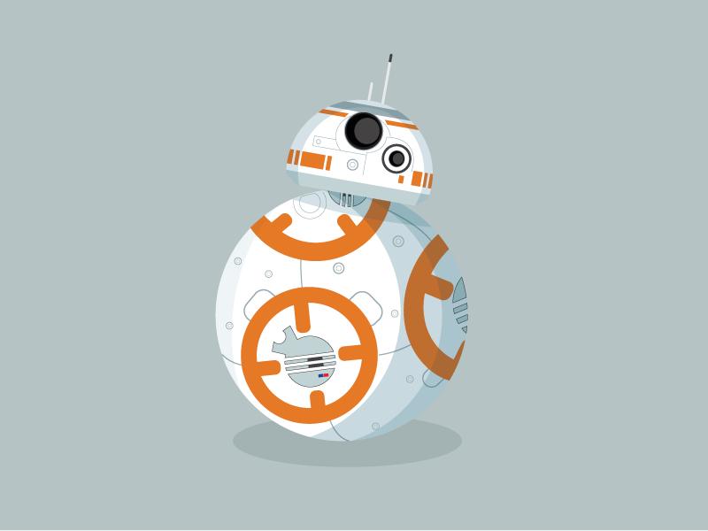 BB-8 vector illustration droid force awakens star wars bb8