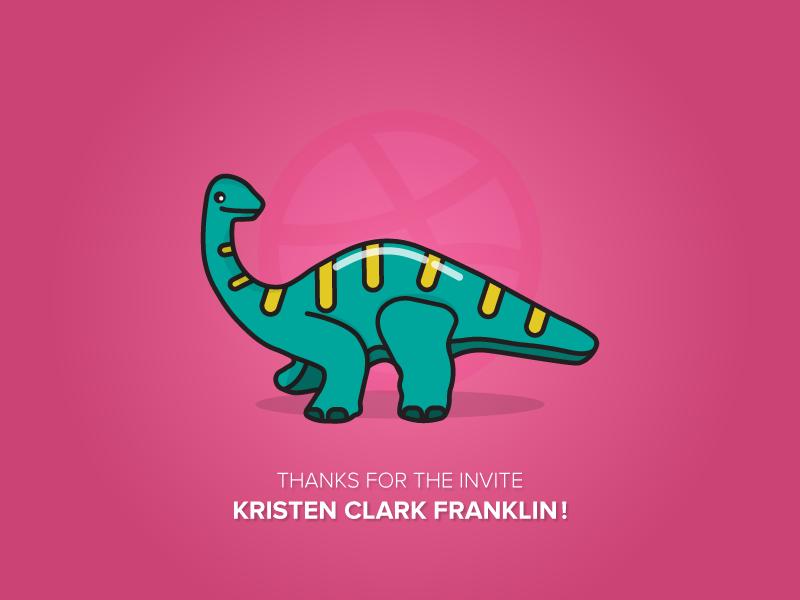Happy Dino illustration thank you dinosaur dino
