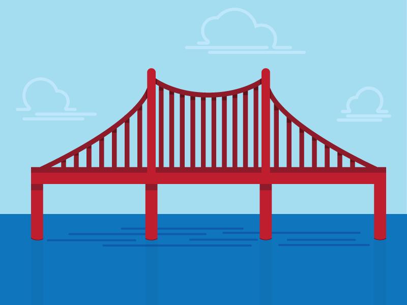 Bridge Illustration illustration vector flat water bridge