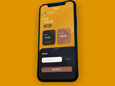 Withdrawal Process Part 1 input interface account transaction balance dark mobile ui effect animation dynamic