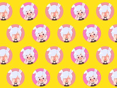 Bunny character branding illustraion icon cute moe bunny affinity designer design character cartoon