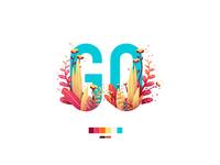 illustration - GO painting noise shadow ipad pro draw affinity affinity designer mask logo flowers flower vector illustration