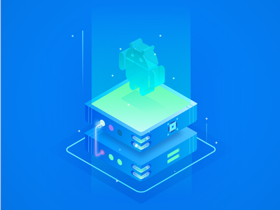 Android robot isometric affinity designer vector illustraion isometric robot android
