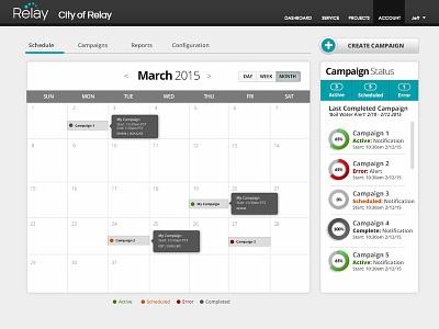 Outbound Calendar website web ux design ui