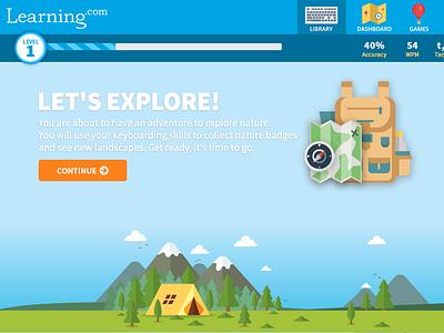 Keyboarding App (Grades 3-5) app website web design ui ux