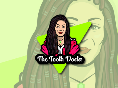 THE TOOTH DOCTA logo graphic design