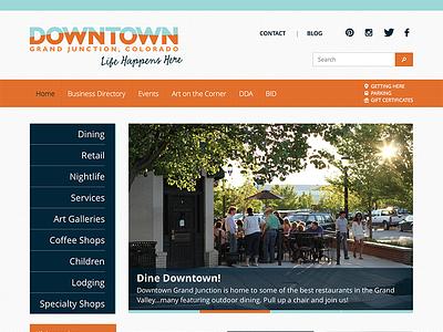 Downtown Grand Junction Website website responsive flat open