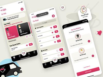 Really Awesome Coffee Loyalty App coffee branding ios mobile app ui