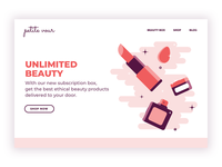 Beauty Subscription Landing Page