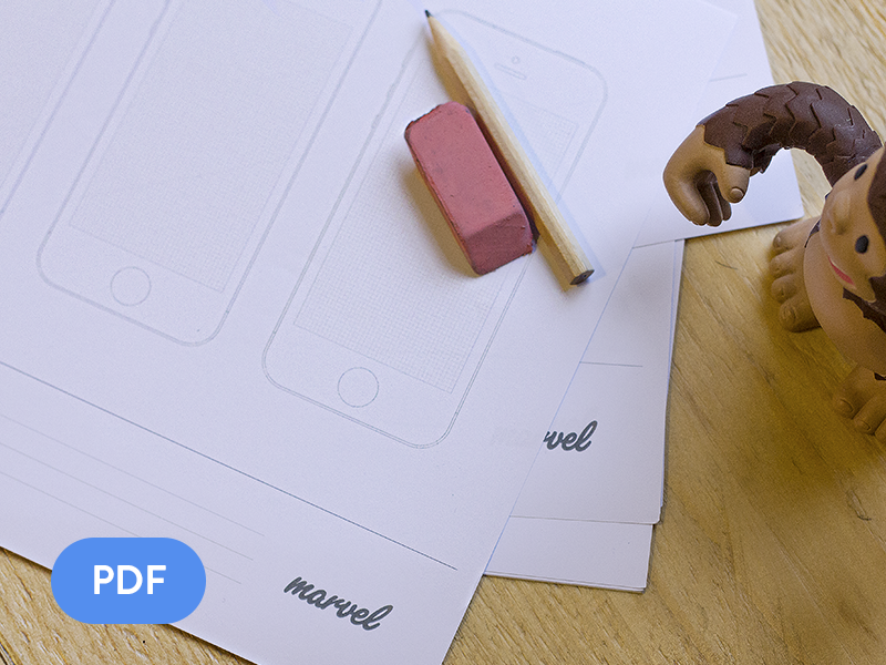 Apple Watch, iPhone, iPad & Android sketch paper! [FREE] iwatch iphone ipad pdf free sketch paper apple prototyping watch icon download