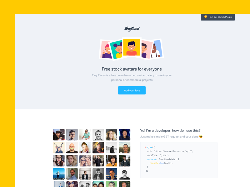tinyfac es free stock avatars for everyone by maxime de greve