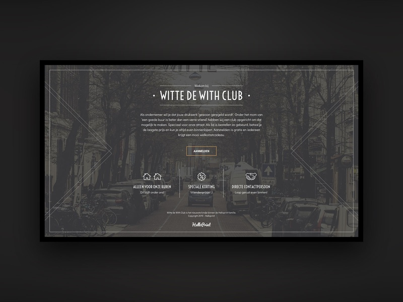 Witte de With Club ui luxurious vintage dark landing page web ux