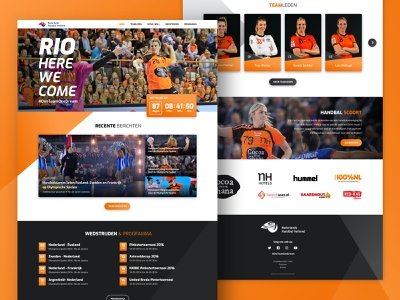 Netherlands Women's National Handball Team Website wordpress web design nhv sport handball netherlands dutch