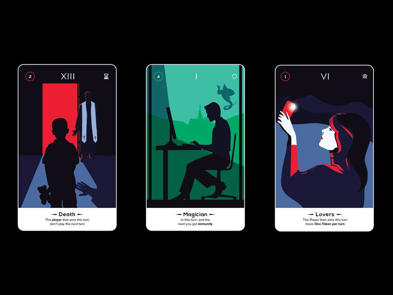 Tarot Card Game - Death | Magician | Lovers by Gonçalo