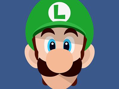 Flat Luigi Wallpaper  luigi mario nintendo flat wall wallpaper ios iphone iphone 4 iphone 5