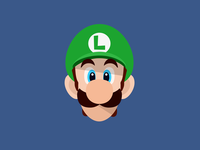 Flat Luigi Wallpaper