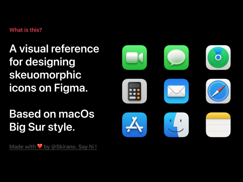 [Figma] macOS Big Sur - Icon Design Reference