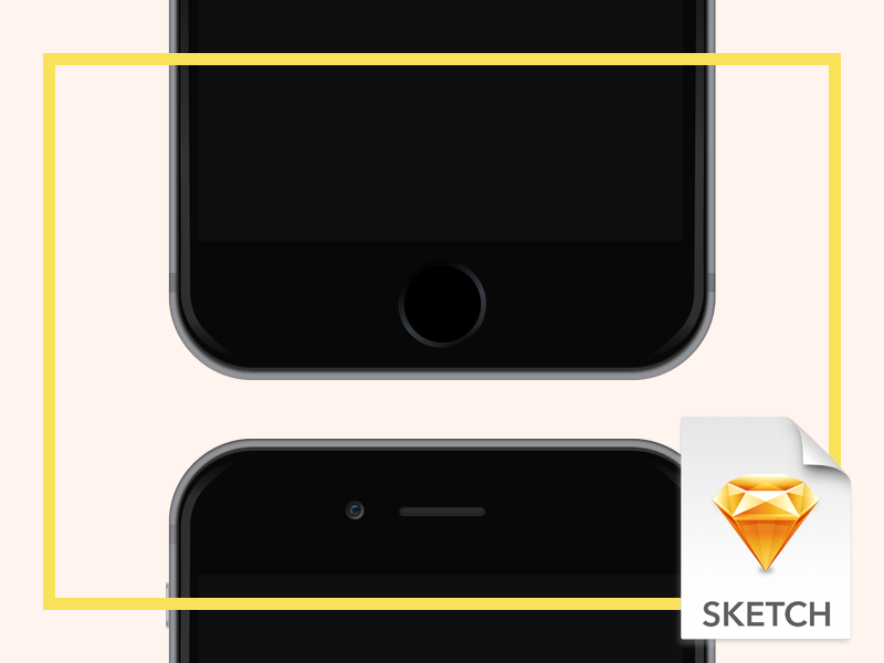 iPhone 6 for Sketch iphone iphone 6 sketch resource free freebie device download apple