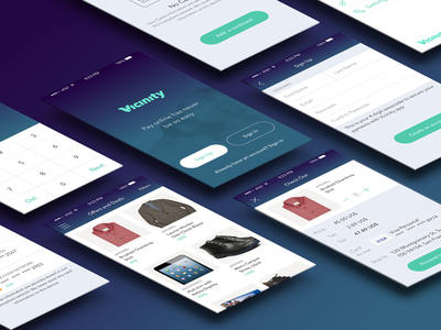 Vicinity App app iphone ios design gradient ux ui branding payments shop shopping credit card