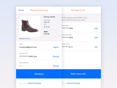Web App Checkout checkout payments experience ui minimal flat material web design design android ios app