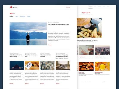 OpenTable Tech Blog modern typography ui minimalism blog