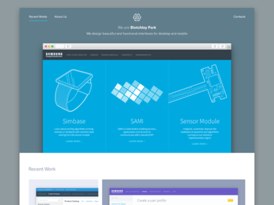Landing Page for Design Agency