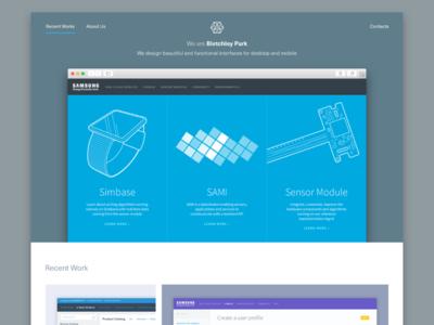 Landing Page for Design Agency flat. color minimal layout single column web design page home page landing page design