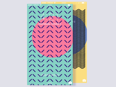 Tropical Geometry wallpaper geometry tropical minimal palette colors modern free freebie