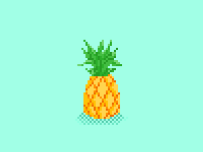Pixel Fresh pool party party pool hot summer pineapple pixel art pixelart