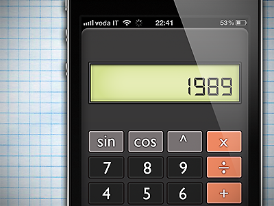 Calculator App (RPN) by Pietro Schirano on Dribbble