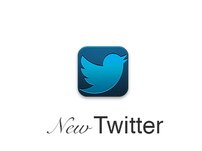 New Twitter Icon twitter icon new new twitter iphone retina ipad iphone 4 iphone 4s icon retina retina ipad