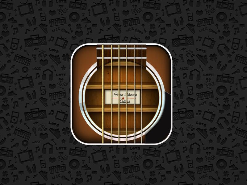 Guitar App icon 2x! psd icon free guitar app 2x